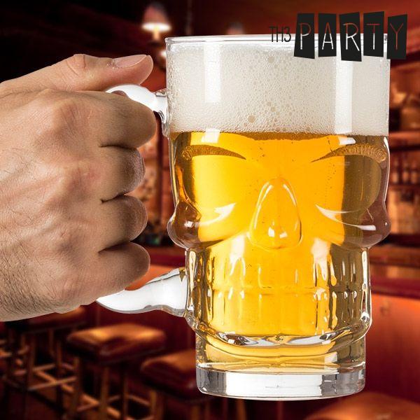 Chope à bière Tête de mort