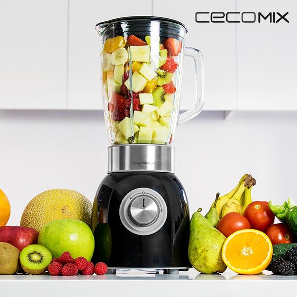 Mixeur en Verre Cecomix Titanium Black 4060 1000W