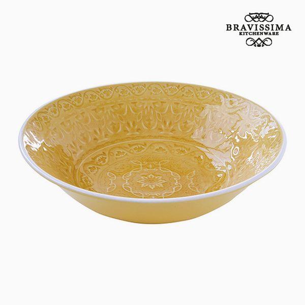 Assiette creuse Porcelaine Jaune by Bravissima Kitchen