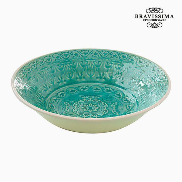 Assiette creuse Porcelaine Vert by Bravissima Kitchen