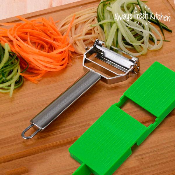 Mandoline Épluche-Légumes Slide & Slice 2 en 1