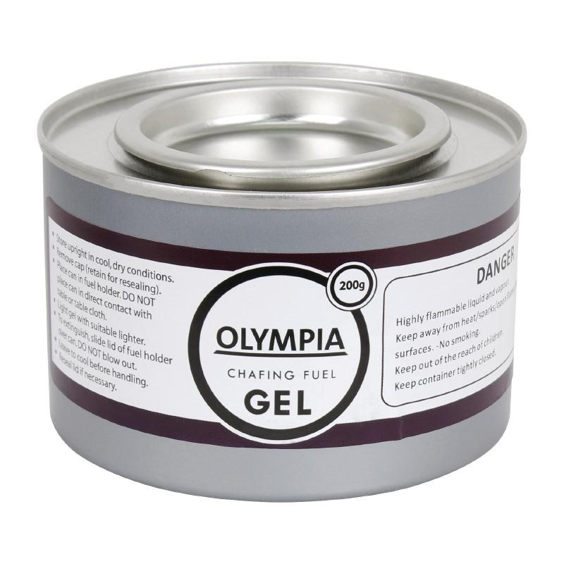 Gel combustible pour chauffe-plat Olympia 2h x 12