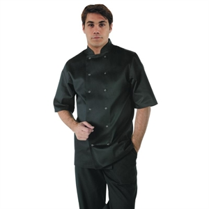 Veste de cuisinier manches courtes noir