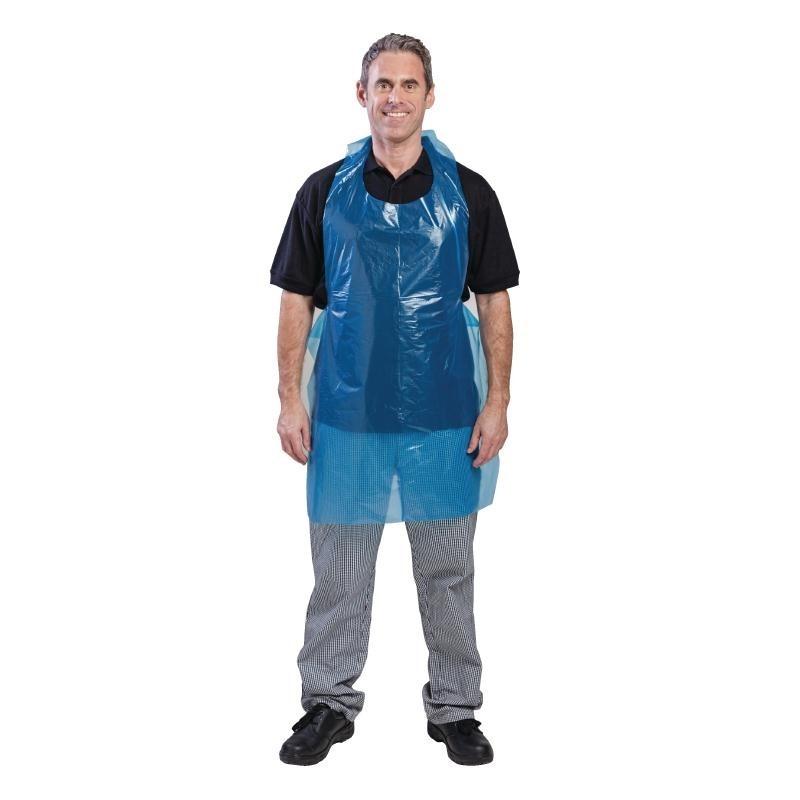 Tabliers jetables en polyéthylène bleus par 100