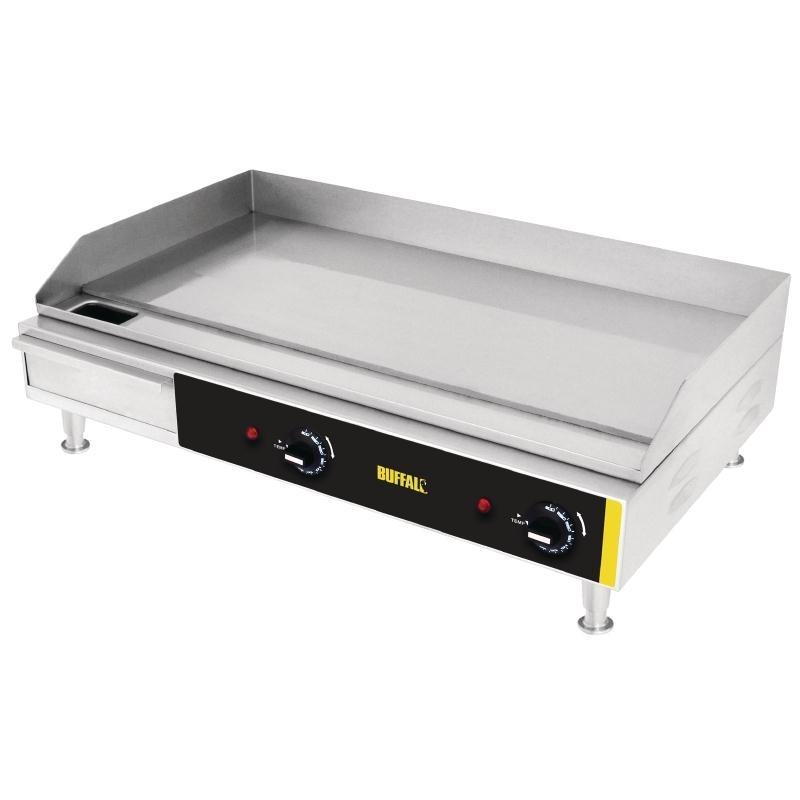 Plaque de cuisson inox électrique lisse 738x460