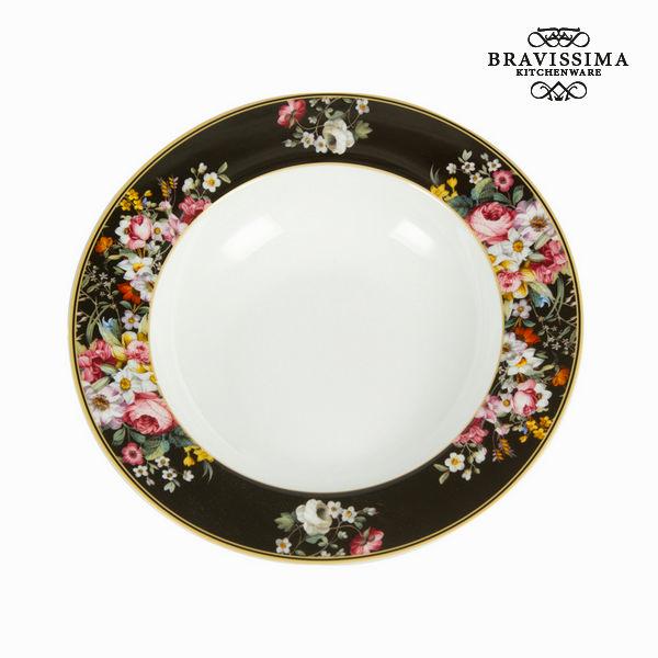 Assiette creuse Porcelaine (Ø 23 cm) - Collection Kitchen\'s Deco by Bravissima Kitchen