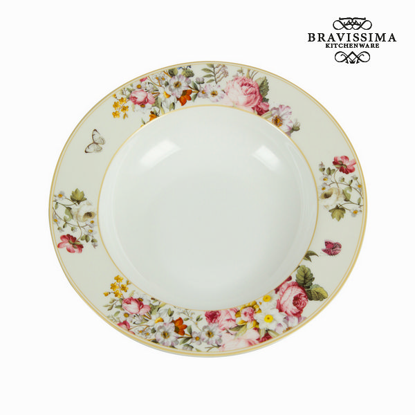 Assiette creuse bloom white - Collection Kitchen\'s Deco by Bravissima Kitchen