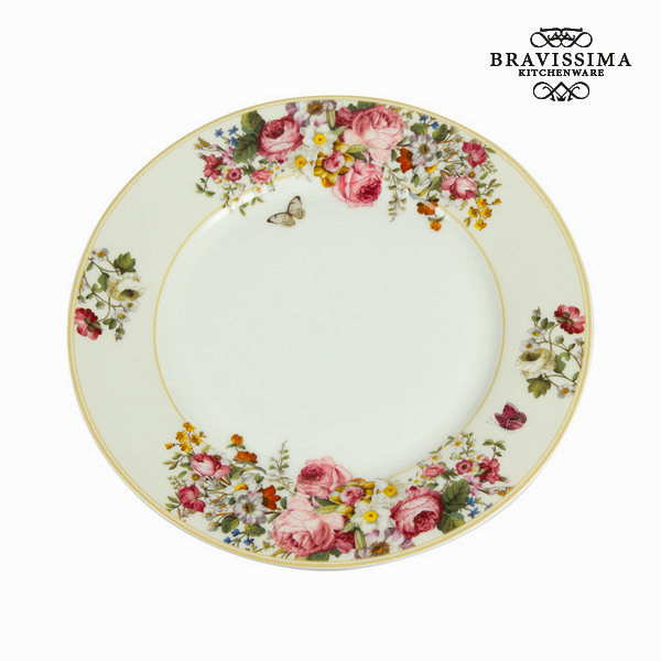 Assiette plate bloom white - Collection Kitchen\'s Deco by Bravissima Kitchen