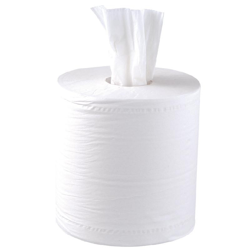 Essuie-mains 2 plis à dévidage central contact alimentaire Jantex blanc