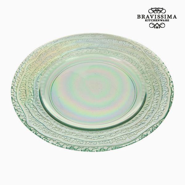 Assiette Plate en Verre Recyclé (28 x 28 x 2  cm) by Bravissima Kitchen