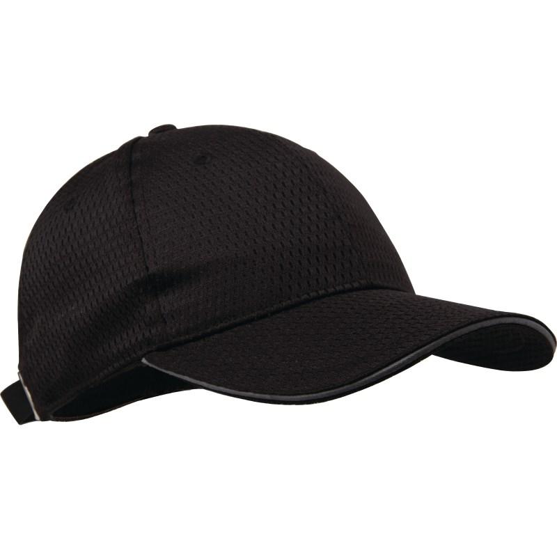 Casquette baseball Cool Vent  noire et gris
