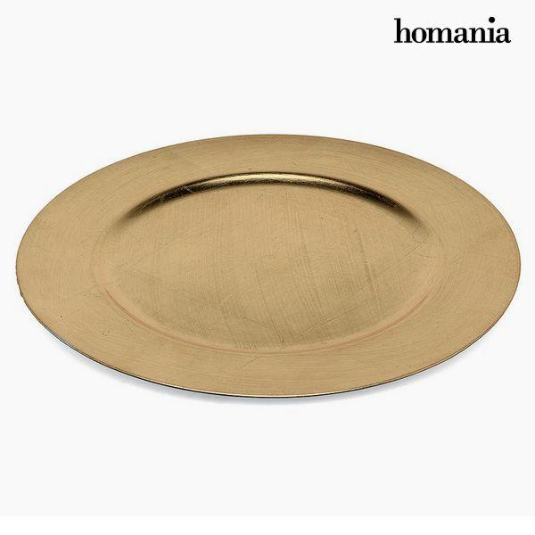 Assiette plate Homanía 1109 Doré