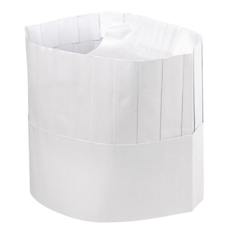 Toque de cuisinier en papier jetable par 50
