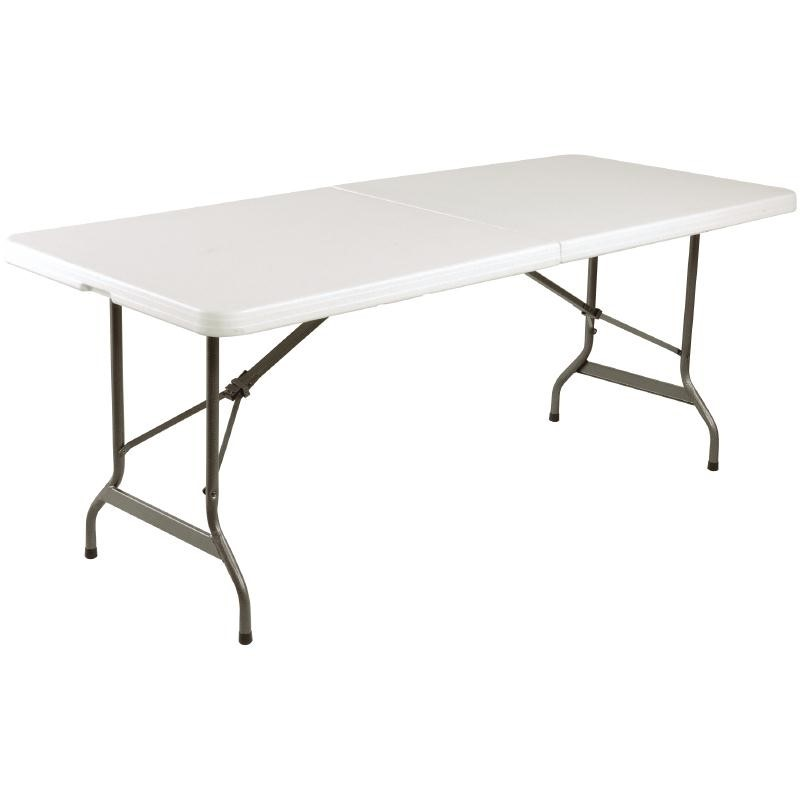 Table pliable au centre blanche 1829mm