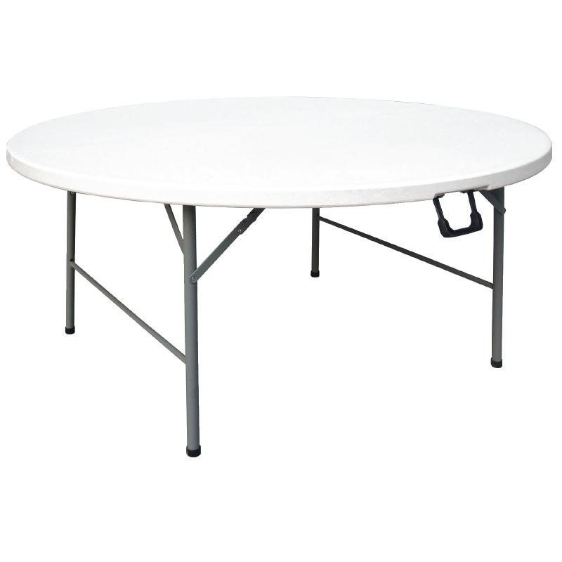 Table ronde pliable au centre blanche 1530mm
