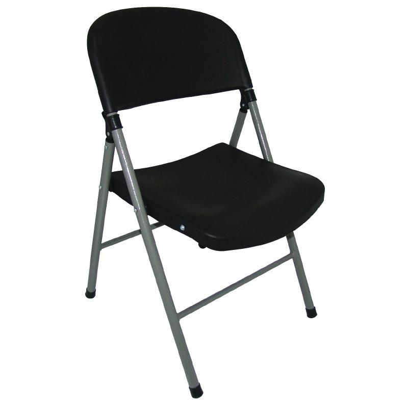 Chaises pliantes noires et grises par 2
