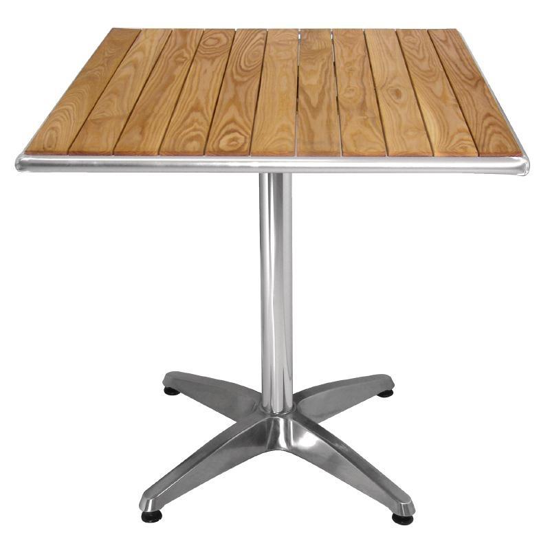 Table carrée en frêne Bolero 700mm