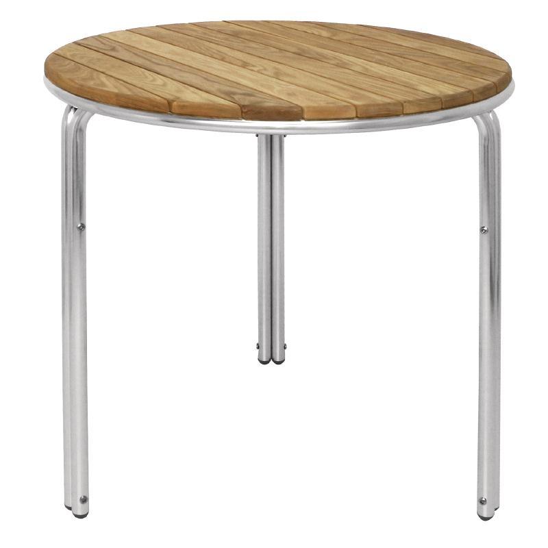 Table ronde en frêne et aluminium  600mm
