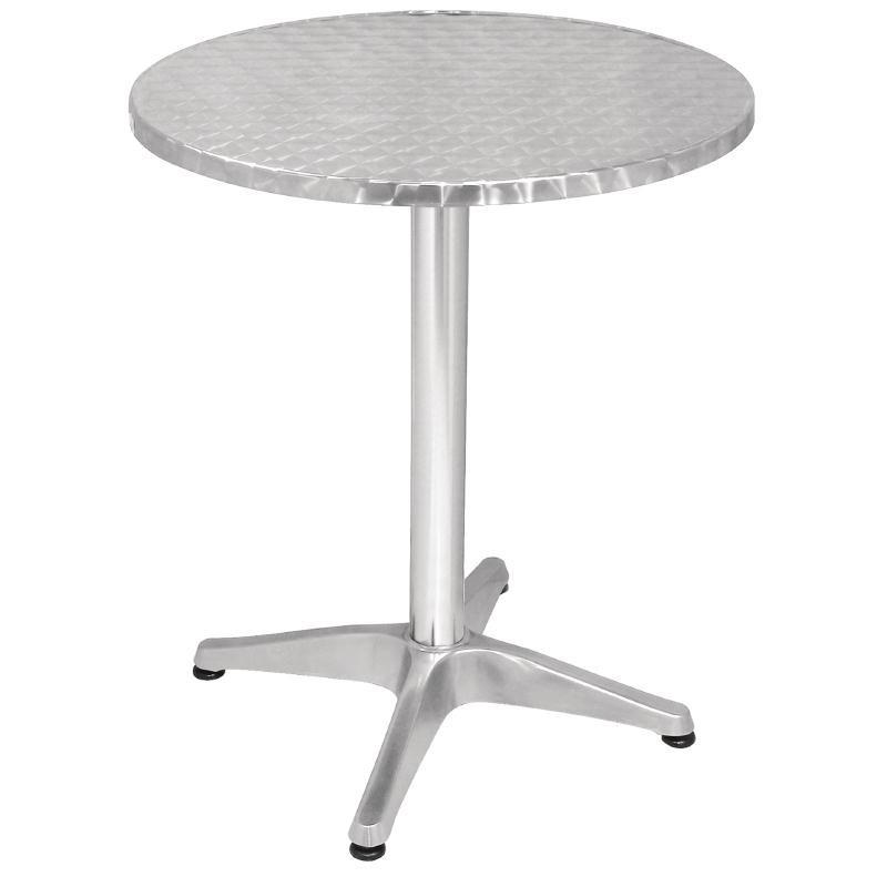 Table bistro ronde 600mm en aluminium