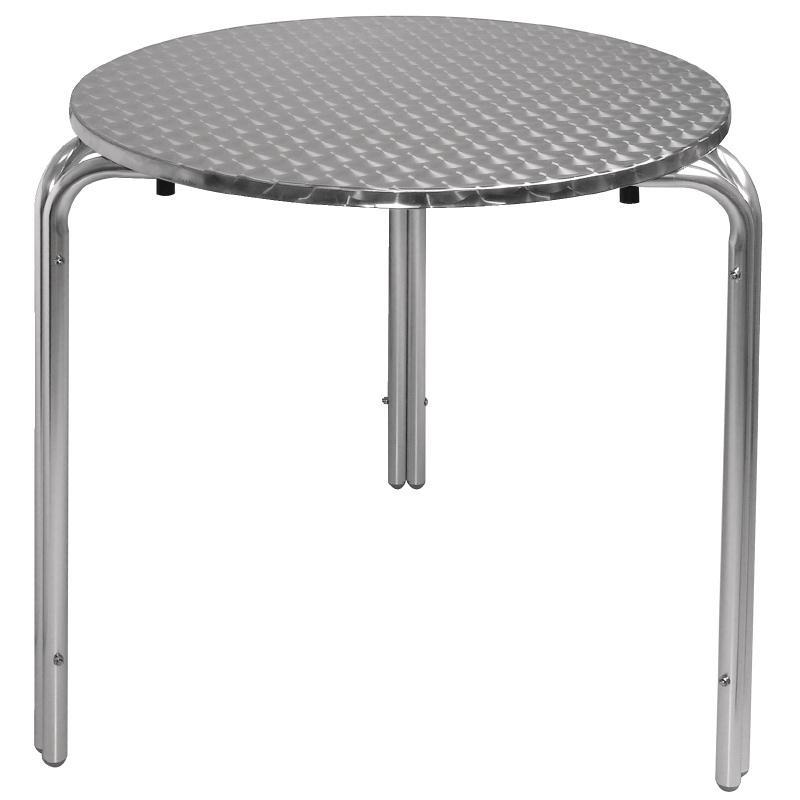 Table bistro ronde 700mm inox