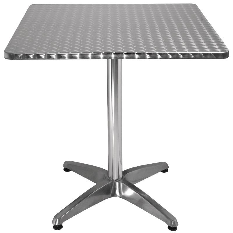 Table bistro carrée acier inoxydable 700mm