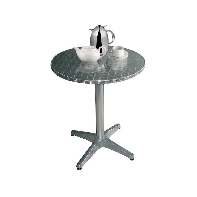 Table bistro ronde inox 800mm