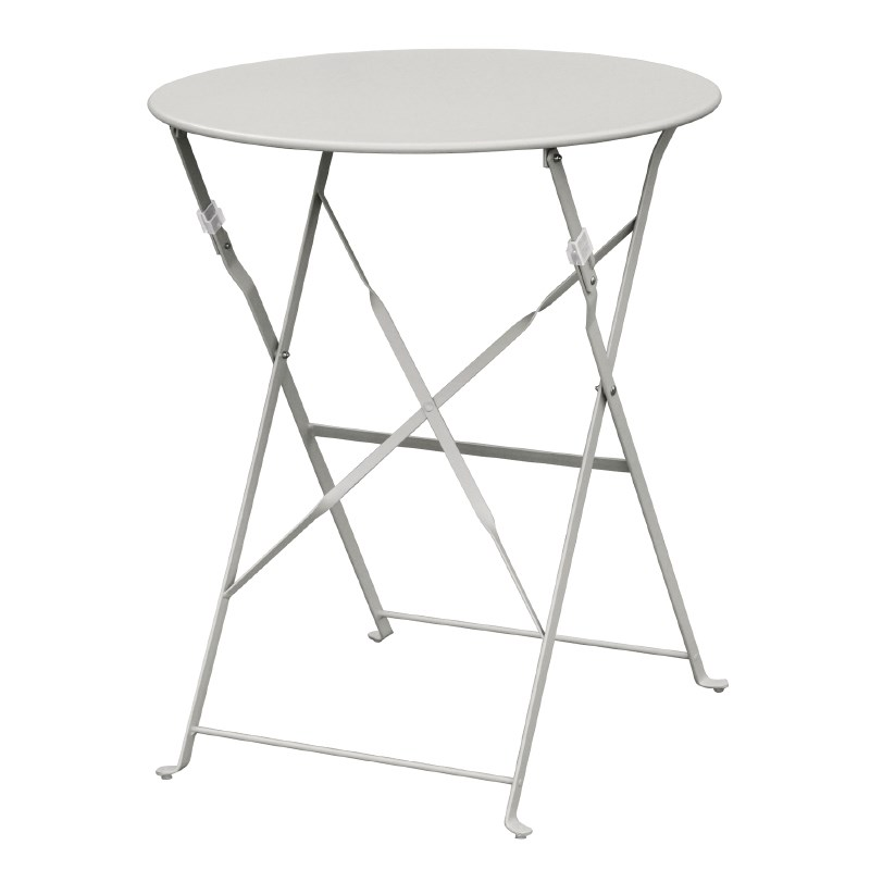 Table de terrasse en acier gris