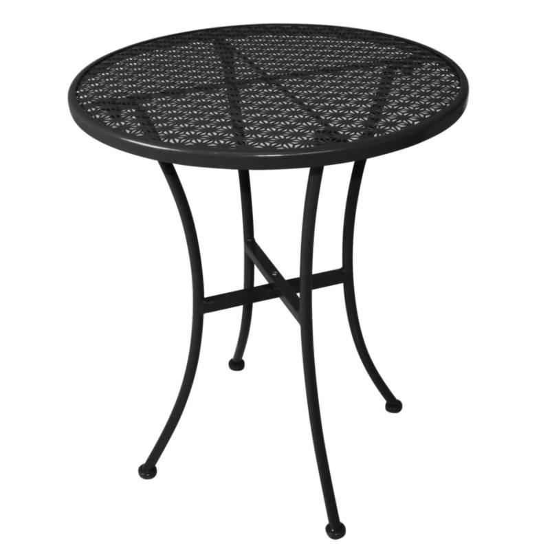 Table bistro ronde en acier ajouré noire 600mm