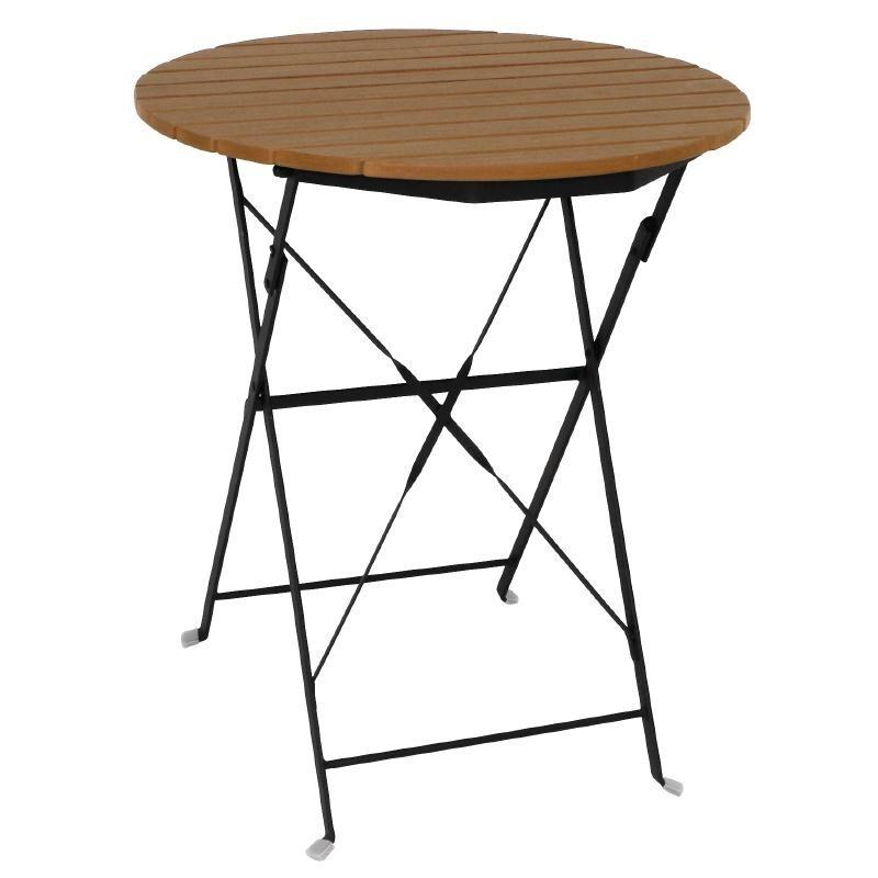 Table bistro ronde en imitation bois 600mm