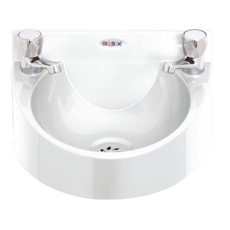 Lave-mains en polycarbonate blanc Basix
