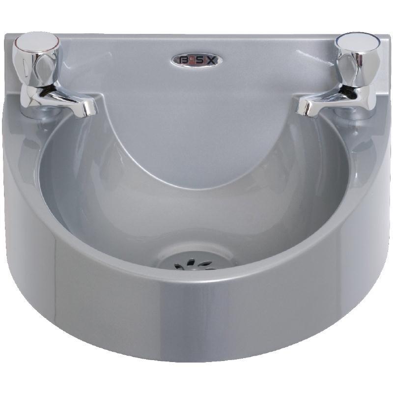 Lave-mains en polycarbonate gris Basix