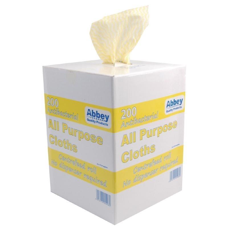 Chiffons tout usage antibactériens Jantex jaunes