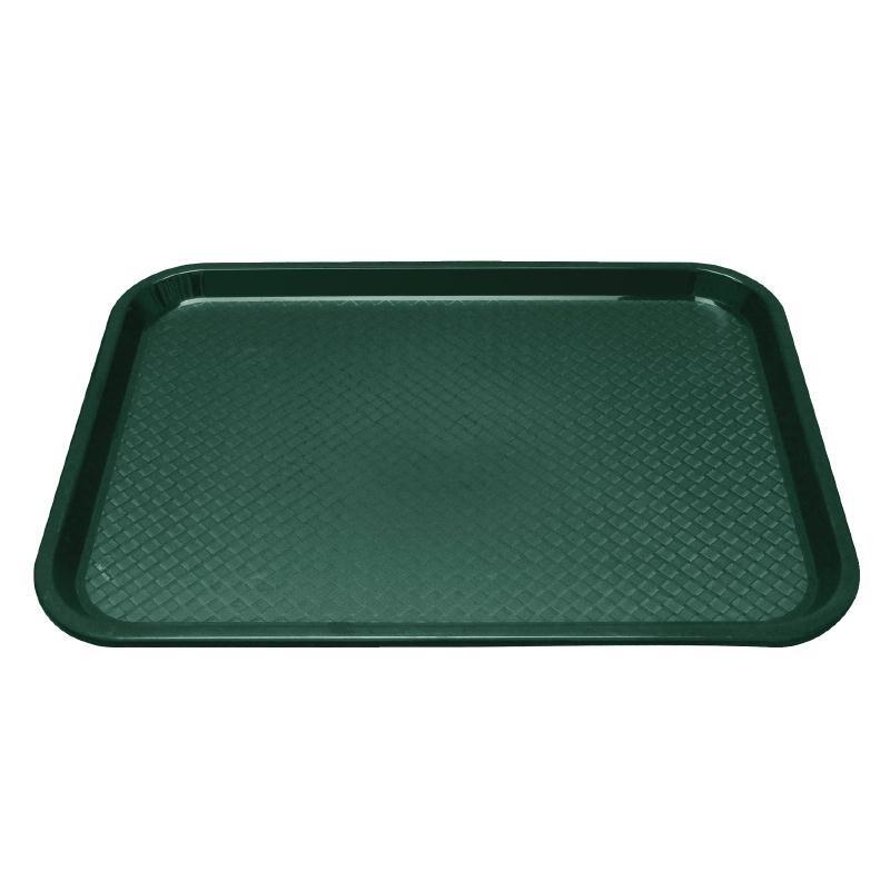 Plateau fast food en plastique Kristallon vert 345 X 265mm