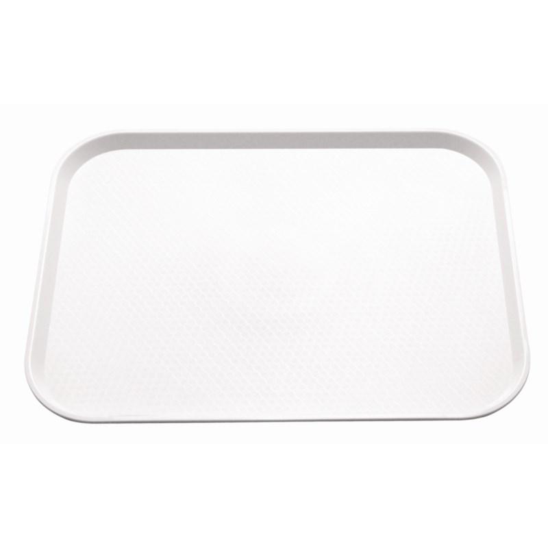 Plateau fast food en plastique Kristallon blanc 345 x 265mm