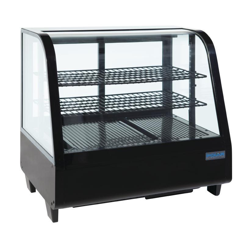 Vitrine réfrigérée de comptoir 100L Polar Série C noire