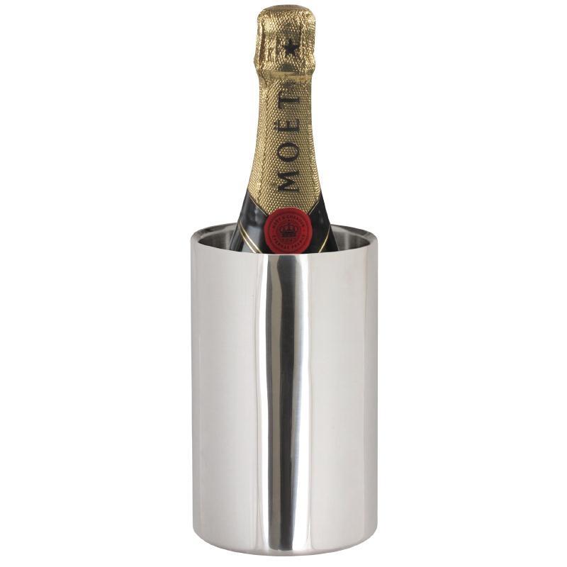 Rafraîchisseur à champagne double paroi en inox poli