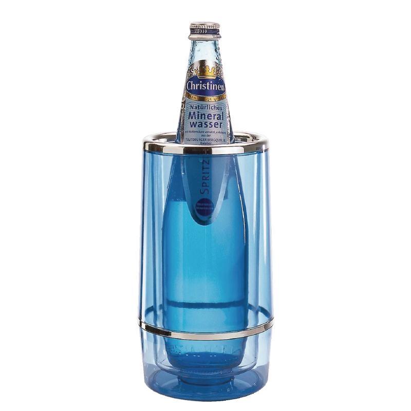 Rafraîchisseur à vin en acrylique APS bleu