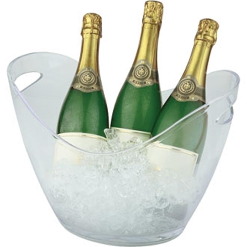 Grand seau à vin ou champagne en acrylique transparent