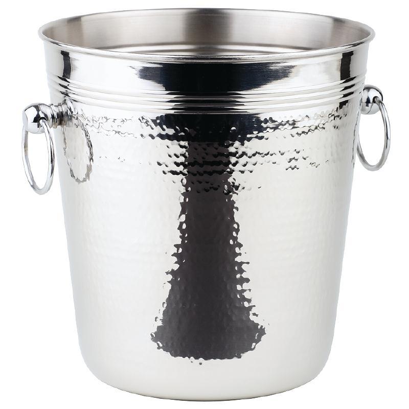 Seau à vin avec anneaux massifs et surface martelée APS