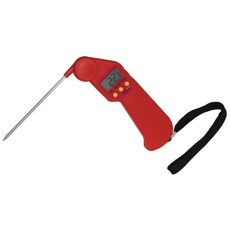 Thermomètre de poche rouge à viande crue