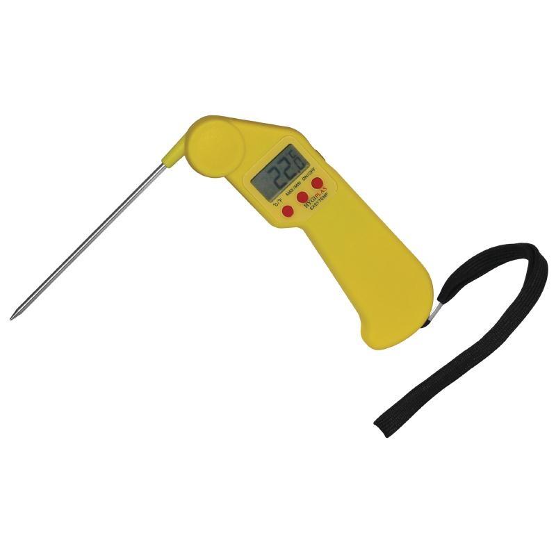 Thermomètre de poche jaune à viande cuite