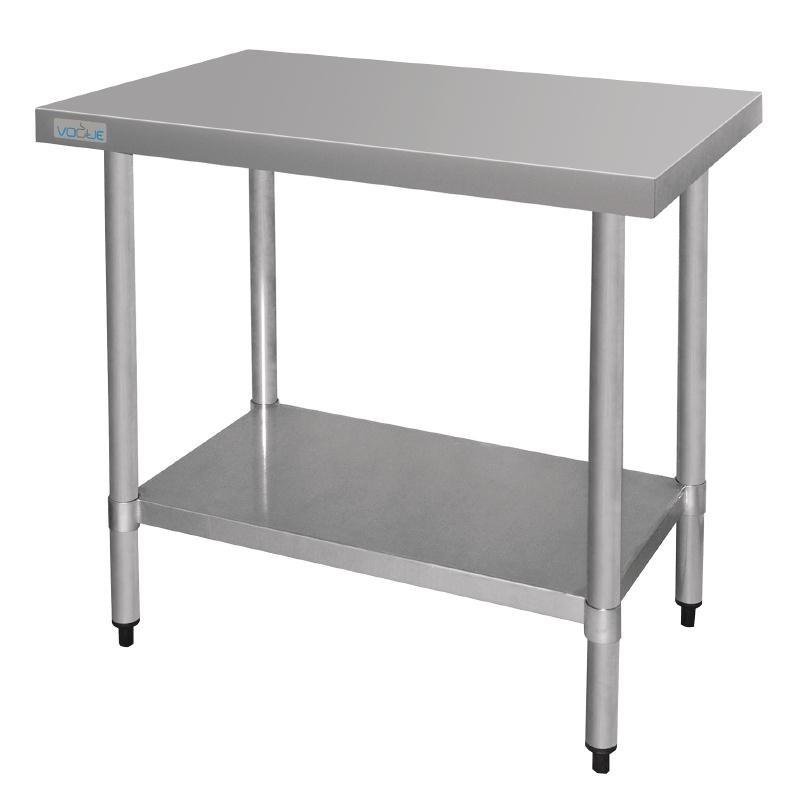 Table De Travail Inox  Sans Rebords  600x900x900(h)mm