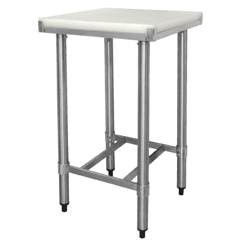 Table De Travail Inox avec Planche de Découpe HDPE  900(H) x 500(L) x 500(P)MM