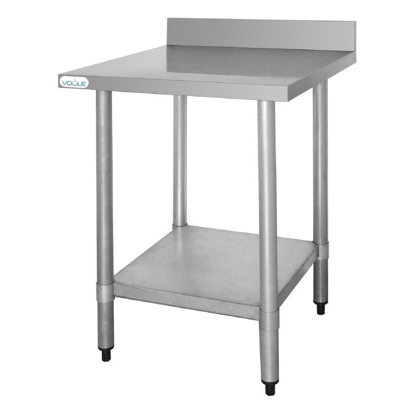 Table De Travail Inox Avec Dosseret 900x600x900(h)mm