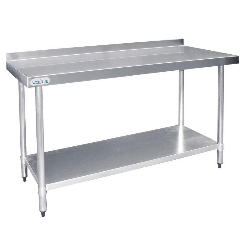 Table De Travail Inox Avec Dosseret  1200x600x960(h)mm