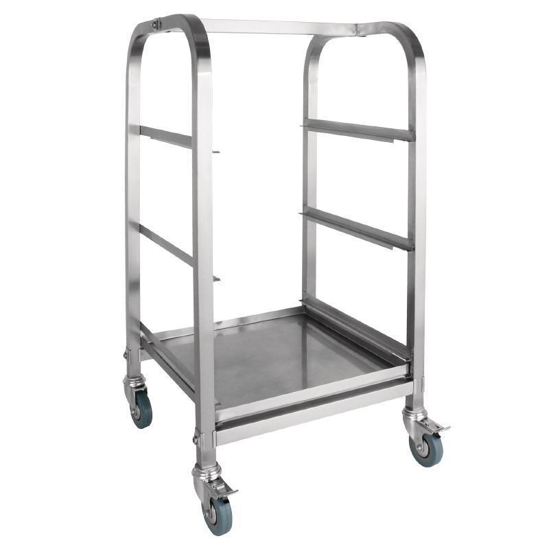 Chariot 3 niveaux pour casiers de lave-verres 400 x 400mm