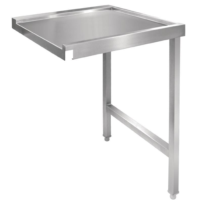 Table de sortie droite pour lave-vaisselle à capot 1100mm