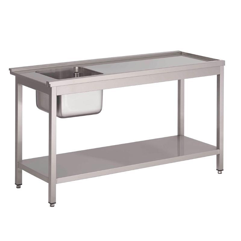 Table de prélavage gauche pour lave-vaisselle à capot