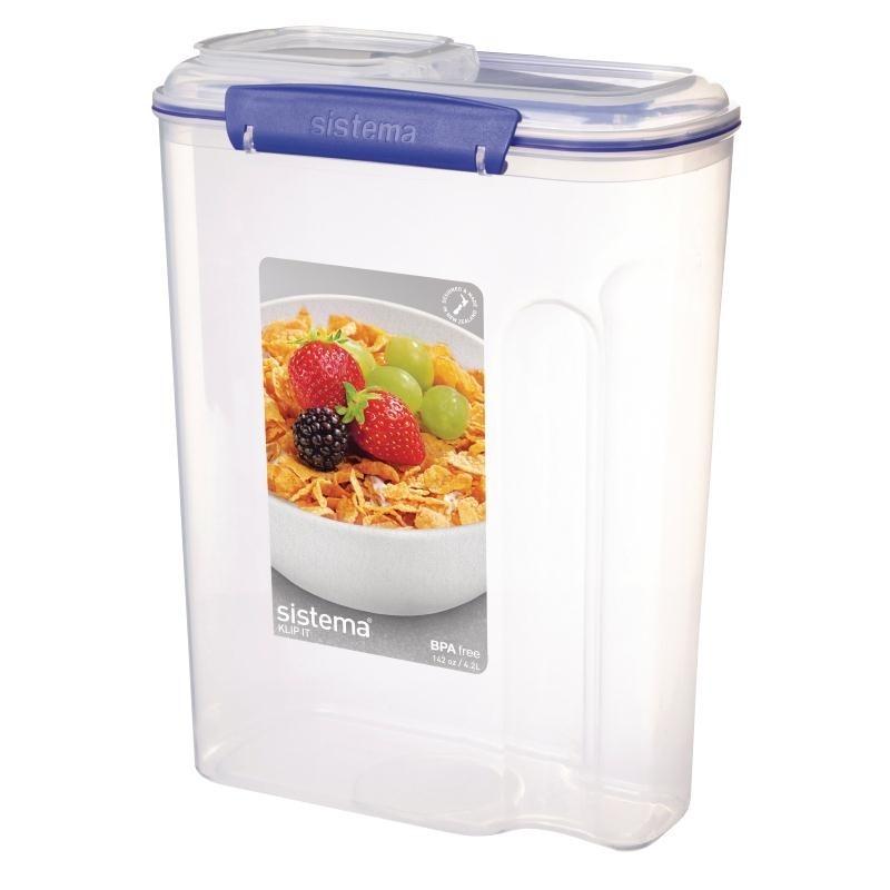 Grande boîte à céréales Sistema 4,2L