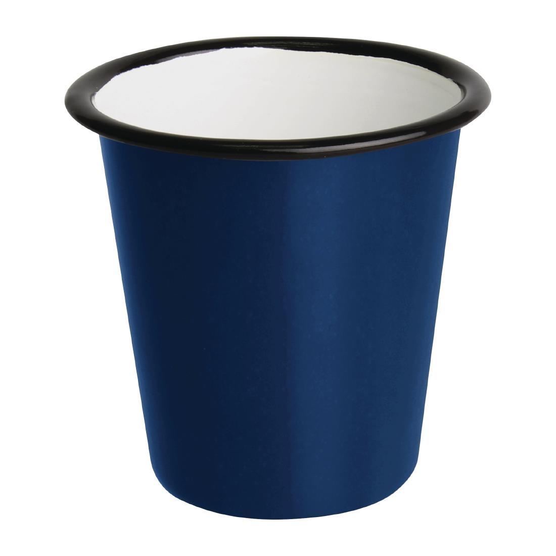 Gobelets en acier émaillé bleu et noir Olympia 310ml par 6
